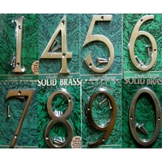 100mm Brass Numbers