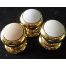 Brass Knobs with Coloured Insert