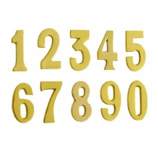 65mm Solid Brass Numbers