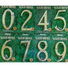 150mm Brass Numbers
